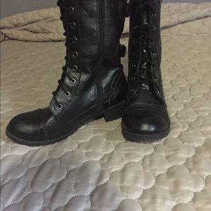 SODA mid-calf combat boots